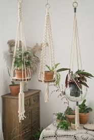macrame plant hanger hanging shelf
