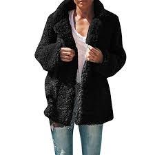 Amazon Com Sanyyanlsy Womens Winter Plus Size Lapel Plush