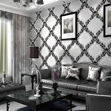 For Black And White Living Room Impressive Black And White Wallpaper Room Perfect Ideas 8566
