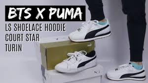 Bts Puma Shoes Size Chart Bts X Puma Turin Review Feat Court Stars And Hoodie Haul