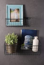 Image Basement Dii Farmhouse Vintage Hanging Wall Mounted Wire Metal Basket For Kitchen Office Bathroom Bmc Inc Dii Farmhouse Vintage Hanging Wall Mounted Wire Metal Basket For