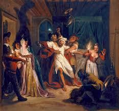 charles antoine coypel don quixote fighting the wineskins early c18
