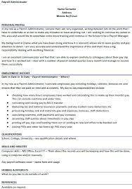 Payroll Manager Resume Sample Payroll Cv Sample Under Fontanacountryinn Com