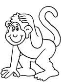 Small Picture Monkey Coloring Pages