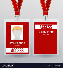 Id Vector Template Badge Plastic Press Image Card Pass