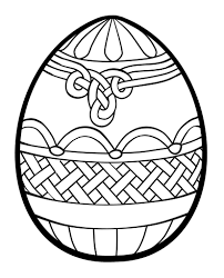 Easter Egg Drawing To Colour At Getdrawings Com Free For Personal