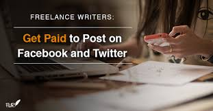 social media writing get paid to post on facebook twitter