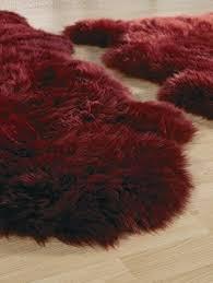burdy double pelt sheepskin rug 2 x 6