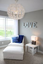 grey room white trim brown furniture gray blue and silver curtains and blue room white