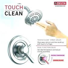 volume and temperature control shower valve how to adjust the temperature on a delta shower faucet