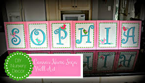 diy baby room canvas art lovely serendipity refined blog diy canvas name sign nursery wall art