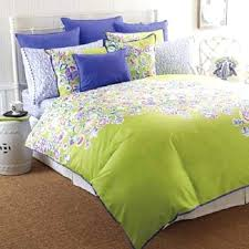 purple and lime green bedding full size