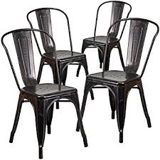 Amazon Com Flash Furniture Black Antique Gold Metal Indoor