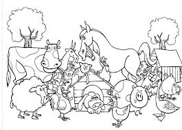 Free Printable Coloring Pages Farm Animals Free Printable Images Of