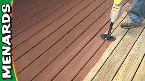 Refinish Stained Wood Refinish A Deck How To Menards Youtube