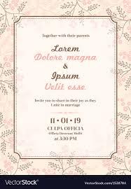 Invitation Card Sample Wedding Invitation Card Template Royalty Free Vector Image