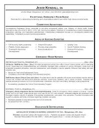 Emergency Nurse Resume Adorable Travel Rn Resume Examples And Er Resume Emergency Room Resume Er