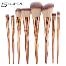 foundation plate uk guj pro 8pcs metal makeup brushes set cosmetic face foundation powder eyeshadow