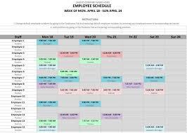 Excel Employee Schedule Template Luxury 7 Employee