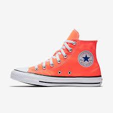 chuck taylor all star seasonal colors high top 155739f 830 hyper orange