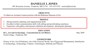 writing a resume profile