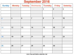 Printable September Calendar Tirevi Fontanacountryinn Com