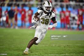Dorian Hall of the FIU Golden Panthers runs with the ball against ...