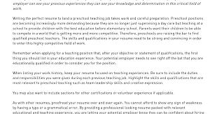 Resume For Child Care Position Babysitting Resume Template Resume