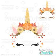 Free download 31 best quality unicorn face silhouette at getdrawings. Autumn Unicorn Face Free Svg File Free Svgs For Silhouette Cricut