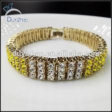 yiwu duyizhao jewelry factory whole iced out hip hop pave cz bracelets