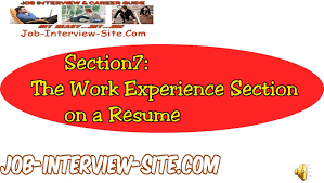 Resume Work Experience Writing Effective Work Experience On Your