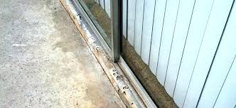 sliding glass door rail sliding glass door track repair sliding screen door track for modern style sliding glass door