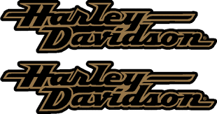 harley davidson fxd tank decal gold 235mm collideascope
