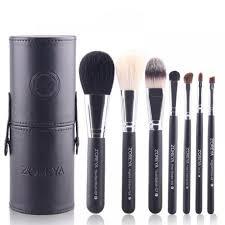 makeup brush set by zoreya black 7 piece set with brush holder