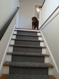 Dark Geometric Stair Runner I Like How Traditional And Modern As Well As  Interesting Modern Carpet
