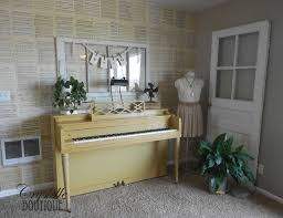 Crystelle boutique - How to wall-paper with vintage music papers