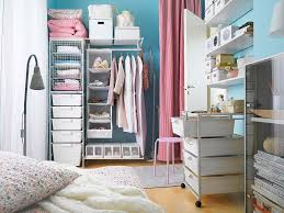 Chic Walk In Closet Feats Metal Racks Storage Idea Also Small Cabinet And  White Fiberboard Shelves