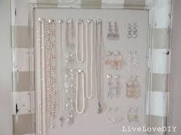Hanging Necklace Organizer Livelovediy Diy Corkboard Jewelry Organizer