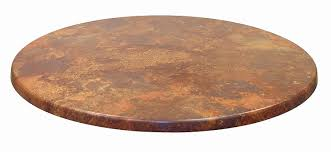 round stone table tops awesome atc werzalit stone look table top 24