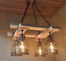 Rustic Wood Light Fixtures Handmade Rustic Light Wood Fixture Farmhouse Light