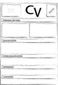 Resume Blank Resume Forms