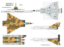 4d paper airplane model template, model template, jet aircraft Cold Air Mirage Diagram paper model airplanes brazilian air force dassault mirage iii