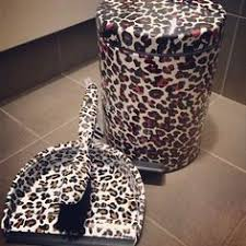 leopard office chair. leopard print dust pan and trash can office chair