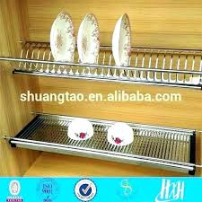wall mounted plate rack shelf hanging holder stainless steel kitchen racks dinner decorative shelves for dishes