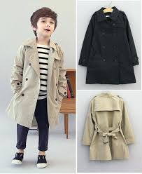 trench coat for boys children causal thin baby boy girls may b babies child pattern
