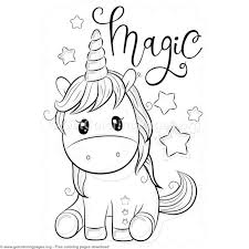 Magic Unicorn Coloring Pages Free Instant Download Coloring