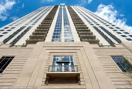 the impressive 42 floor block of flats will no doubt catch the eye of affluent