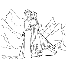 Kleurplaat Elsa En Anna