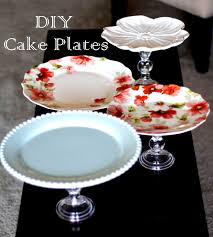 DIY Cake Plate(s) Use dollar store candlestick holders and found plates  (Goodwill