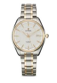 buy cyma watches for men online zalora singapore cyma silver and gold swiss made men s automatic bracelet watch cy599ac19zsqsg 1